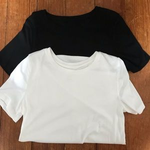 A New Day Bundle of 2 Tee Shirts Black and White